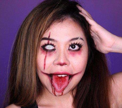 Who are you in the dark? . . Harusnya ini ada videonya tapi karena pas ngeshoot lagi nggak pake kacamata / softlens minus, ternyata hasil videonya ngga fokus sedih banget ☹️ . . . . . . . . . . . . . . . #artmakeup #makeupart #facepaintersofinstagram #clozetteid #makeup #wakeupandmakeup #colorfulmakeup #beautybloggers #makeuptransformation #100daysofmakeup #bunnyneedsmakeup #ragamkecantikan #makeupinspo #undiscoveredmuas #makeupaddict #fantasymakeup #creativemakeup #faceart #artisticmakeup #facepaint #facepainting #makeupartistry #instamakeupartist #makeupideas #zonamakeupid #makeupindo #bvloggerid