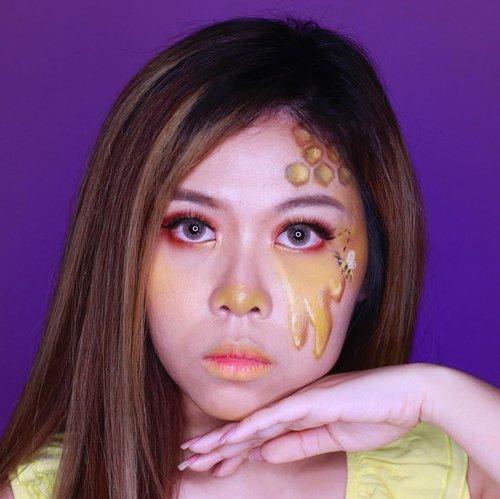 Let it bee 🐝🍯✨ . . Inspo: @t.rinluck 👑 . . . . . . . . . . . . . #beemakeup #honeymakeup #artmakeup #makeupart #facepaintersofinstagram #clozetteid #makeup #wakeupandmakeup #colorfulmakeup #beautybloggers #makeuptransformation #100daysofmakeup #bunnyneedsmakeup #ragamkecantikan #makeupinspo #undiscoveredmuas #makeupaddict #fantasymakeup #creativemakeup #faceart #artisticmakeup #facepaint #facepainting #makeupartistry #instamakeupartist #makeupideas #zonamakeupid #makeupindo #bvloggerid