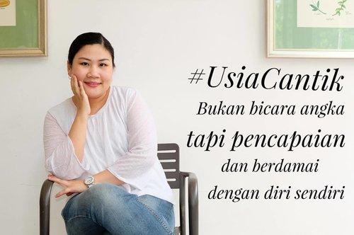 #UsiaCantik bukan bicara angka, tapi pencapaian dan berdamai dengan diri sendiri. Percaya deh, kalau sudah bisa berdamai dengan diri sendiri, memasuki usia kepala 3 atau 4 sekalipun, kita akan tenang dan enjoy menjalaninya. #LorealSkinExpert #LorealRevitalift #revitaliftDermalift #ClozetteID #instabeauty #indonesiablogger #indonesiabeautyblogger #bloggerBDG #bloggerlife #bloggerbandung #bloggerindonesia #beautyblog #beautyblogger #beautybloggers #beautybloggerbandung #beautybloggerindonesia #bblogger #bbloggers #bbloggerslife #BloggerPerempuan