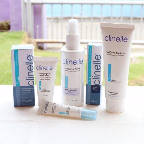 Tiga minggu menggunakan Clinelle Purifying Series untuk menghilangkan bekas jerawat yang tiba-tiba menghiasi wajahku.  Review lengkap dan hasil akhir pemakaian sudah up di blog aku ya. Link on Bio ❤  #MyAcneMyJourney #withClinellePurifying #ClinelleIndonesia #Clozetteid #skincare #ClinelleXClozetteIdReview@clinelleid@clozetteid