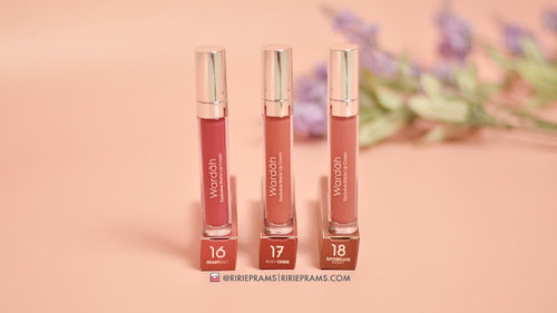 Ririeprams : Beauty Blogger Indonesia: Review & Swatch Wardah Exclusive Matte Lip Cream 3 New Shades (16, 17 & 18)