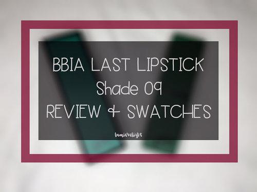 Beauty Blog by Rizkika Widianti: [REVIEW] BBIA Last Lipstick Shade 09