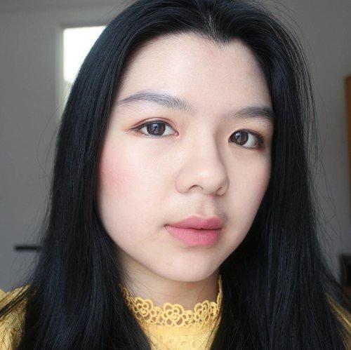 💘BIT.LY/MIZZU_BLUSH Bb cream: Kiehl Concealer: Maybelline Fit Me Powder: Skin Food Loose Buckwheat Eyebrow: @Revlonid Eyeshadow: Integrate + Inez Venice Eyeliner: Kiss Me Heroine Blush: @mizzucosmetics Scarlet Bloom Bronzer: @catrice.cosmetics Lipstick: Nyx Stockholm + @Makeoverid Libertine  #clozetteid #motd #makeup #asian #makeupoftheday