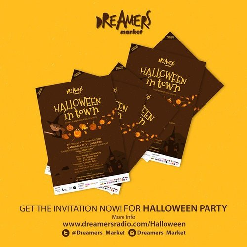 Hello everyone .. this time I collaborate with @dreamers_market will give you 4 free invitations to the Dreamers Market Halloween Party that will held on 31 oct, 6 p.m at Gandaria City.  There will be fun costume party, meet up with fashion bloggers, and travel package for best costume.. You can get the invitation my simply follow me at @jeanmilka,  re-post this picture, mention me and  @dreamers_market. Tell me your idea for the costume that u will wear ... and don't forget to use #DMHalloween and #JeanxDM. Before 26 October 2014.  #dreamersradio #dreamersmarket #halloween #party #invitation #halloweenparty #clozetteid #beautyblogger #beautyaddict #indonesianblogger #indonesianbeautyblogger #fashionblogger #bloggers #giveawayindo #giveaway #endorsment #endorseindo #costumeparty