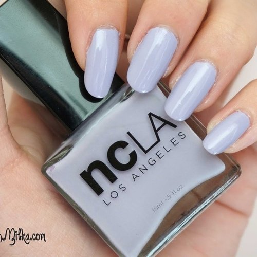 Really lovr this nail polish from #ncla #losangels in #asif ... Pretty purple polish with gray unfertone.. I  really sad that I broke it... Have you ever tried #ncla #nailpolish? What is ur opinion. Check mine on my blog#notd #nail #nails #nailart #nailaddict #blogger #beautyblogger #clozetteid #purplepolish #summernail #springnail