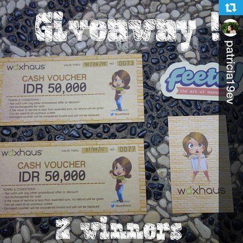 #Repost from @patricia19ev with @repostapp --- Giveaway !!!@waxhaus and me are giving away 2 IDR 50k vouchers for 2 lucky winners How to win :1.Join my site (www.angiebeautydiaries.blogspot.com2.Follow @patricia19ev and @waxhaus on twitter3. Follow @patricia19ev on instagram and repost this photo with #angiexwaxhausgiveaway4.Comment your name,gfc name ,twitter account,instagram account and your email 5. Comment done here#angiexwaxhausgiveawayStart 02.09.2014 Ends 08.09.2014Indonesia residents only (Jakarta,tangerang and Bali) Good luck !Read my review here :http://angiebeautydiaries.blogspot.com/2014/09/waxing-experience-at-waxhaus-giveaway.html#clozetteid #clozette #clozettedaily #waxhaus #indonesianbeautyblogger #beautyblogger #blogger #sponsored