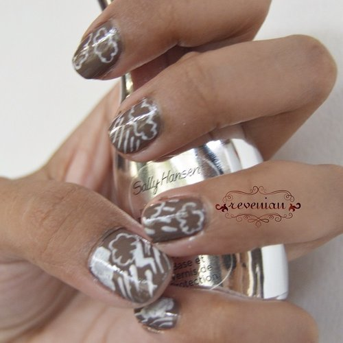 """Another submission for @sallyhansen_id Nail Art Competition """"Rainy Days"""" #SHIndo ... #nail #nailart #manicure #clozetteid #instagood #indonesian #instadaily #instabeauty #indonesianbeautyblogger #SallyHansen"""