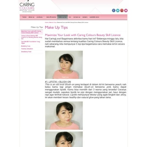 Good morning ♥  Top 3 tips and tricks to maximize your beauty license kit!  Check it out at @caring_colours website!  Have a great Thursday!  #clozetteid #clozettedaily