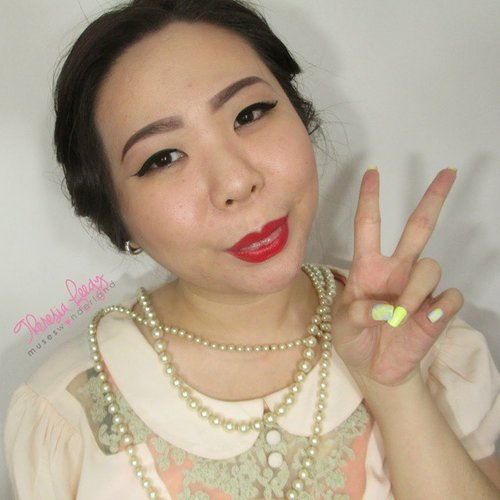 Wekkkk GOOD MORNING MONDAY ! Ih Senin lagi ya cyin hahaha well a new tutorial is up on the blog and my #youtube channel so make sure you subscribe. Made a tiny promise to update my youtube channel as often as i can :p  So tutorial for today is that classy basic #vintage look. Those cat eyeliner and the red matte lipstick ♥  #ClozetteID #clozettedaily #fdbeauty #femaledailynetwork  #beauty #makeup  #mayamiamakeup #maryammaquillage  #motivescosmetics #wakeupandmakeup #dressyourface #universodamaquiagem_oficial #hudabeauty #lookamillion #makeupgeek #maquiagemx #bhcosmetics #labella2029  #endorse #endorsement #muajakarta #muaindonesia #makeupartistjakarta #makeupartistindonesia #kursusmakeup #anastasiabeverlyhills