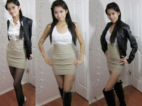 How to Wear a Bandage Skirt for Day & Night - YouTube