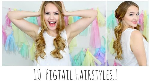 10 Easy Pigtails You'll Love!! - YouTube