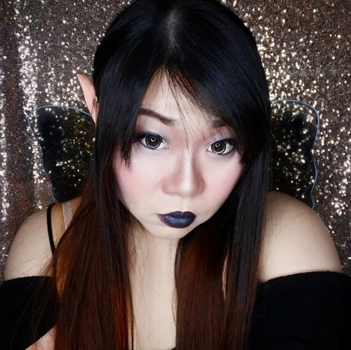 When you have only 30 minutes to turn yourself from a basic B to Halloween Party ready!  Like i said many times, i am lazy, can't do character/SFX makeup and i also happen to be kiasu AF, since i already have the elf ear, i decided to just turn to the other side and became a dark fairy for the night!  Btw, i am wearing current go to contact lenses, Koko Black in Stones (you can get them at @spexsymbol ), the full review is still brewing in my blog - gonna be up tonight or tomorrow!  #halloween #halloweenmakeup #halloweencostume #darkfairy #evilelf #clozetteid #sbybeautyblogger #surabayablogger #beautynesiamember #bloggerceria  #influencer #influencersurabaya #surabayainfluencer #beautyinfluencer #SurabayaBeautyBlogger #event #eventsurabaya #surabayaevent #girl  #halloweensurabaya #halloweenevent #asian #makeup #asian  #halloween🎃 #beautybloggerindonesia #beautybloggerid #surabayablogger #fotd #motd