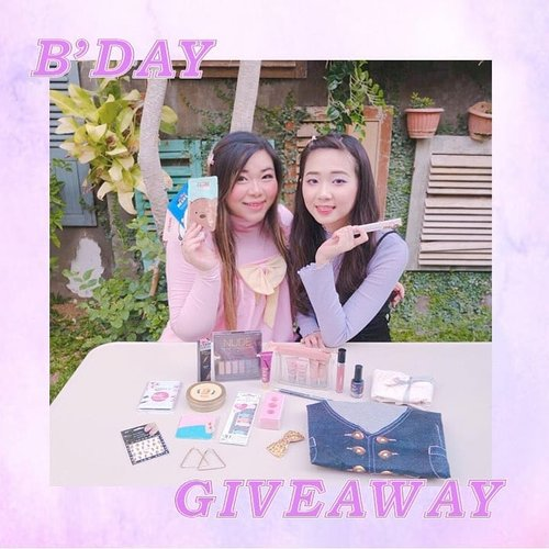 Untuk merayakan Bday kami, @cynthiansunartio and i are throwing a massive giveaway!  We have over 20 beauty and fashion items to win, swipe to see the products clearer.  As usual, out rules are simple : 1. Follow me (obviously,  and don't unfollow after the giveaway or imma block ya!) @cynthiansunartio 2. Like dan komen di foto ini, kasih tau kami produk mana yang bikin kalian pengen banget menangin giveaway ini dan tag 3 temanmu untuk ikutan giveaway ini. 3. You can only enter using your personal account (not online shop/giveaway account/etc) and make sure it's not locked. 4. Be active! Spam like, comment and support, make us notice you! The more we notice you, the bigger your chance to win! 5. ‎Giveaway is open until October 29th midnight (only for Indonesian resident or at least who owns Indonesian address). Good luckkk!  #MiCyngiveaway #giveaway #giveawayindonesia  #giveawayid #bagibagihadiah #hadiahgratis #makeupgratis #giveaways #clozetteid #aksesorisgratis  #infogiveaway #sbybeautyblogger #bloggerceria #beautynesiamember #blogger #bblogger #bbloggerid #beautybloggerindonesia #beautybloggerid #influencer #beautyinfluencer #makeup #beauty #freeproducts #fashion #bloggerperempuan #produkgratis #gratisan