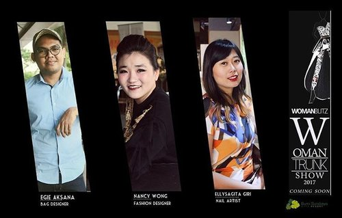 Surabaya ladies,  get ready!  The funnest,  most exclusive event will unfold next month!  Introducing our couture fashion designer @nancywongcouture, our talented fashion designer @egieaksana (check out his new line @egie.room !) and our boss lady/nailpreneur @ellysagita from @menail_shop 😀 - are you ready for our Woman Trunk 2017??? Organized by @womanblitz and supported by @sbybeautyblogger .  Also supported by : Venue : @bumisurabaya MUA : @fanny_blackrose Hairdo and makeup : @lasalleindonesia  PS : if you're a brand looking for participating in this event,  you can! Just drop us a line at womanblitz@gmail.com or sbybeautyblogger@gmail.com  #WBxSbbWomanTrunk #WomanTrunkShow17 #sbybeautyblogger #eventinfo #surabaya #surabayaevent #surabayaeventinfo #fashionshow #nailshow #launching #brandlaunching #blogger #bblogger #bbloggerid #clozetteid #clozettedaily #fashiondesigner #bagdesigner #nailartist #collabproject