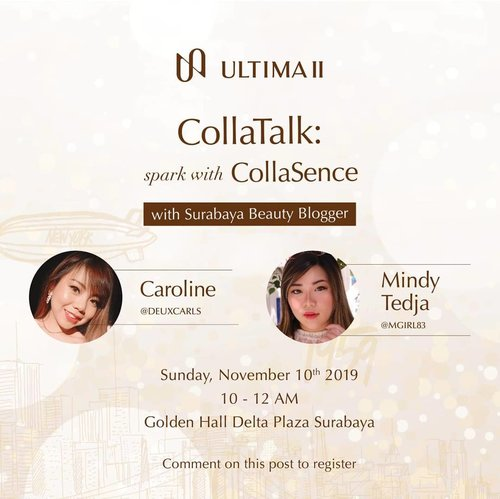 I'm honored to be the part of Ultima II 60th Anniversary Celebration and so happy to join Ultima II #GoBeyondExtreme event at Golden Hall Delta Plaza Surabaya, 10 November 2019, 10.00-12.00!  Event is free so if you want to come and join this beauty talk, let's come and mingle with us 😉! Lots of @sbybeautyblogger gurls will be there so we can have fun together.  #event #eventsurabaya #surabaya #surabayaevent #girl #clozetteid  #sbybeautyblogger  #bloggerindonesia #bloggerceria #bloggerperempuan #indobeautysquad  #influencer #beautyinfluencer #surabayainfluencer #surabayablogger #influencersurabaya  #indonesianbeautyblogger  #bloggerid #bblogger #bbloggerid #beautyinfluencersurabaya #SurabayaBeautyBlogger #sbbevent #eventgratis #beautyevent #ultimaii #ultimaiievent #ultimaii60thanniversary