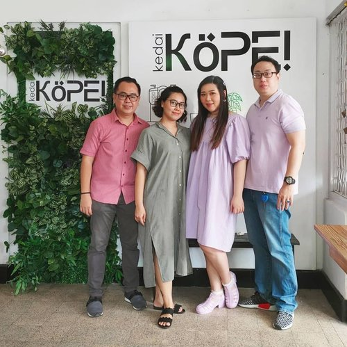 @kope.sub 2nd outlet opening, PSBB style 😛. Thank you for all the suppport!#kopesurabaya #opening#clozetteid #sbybeautyblogger  #BeauteFemmeCommunity