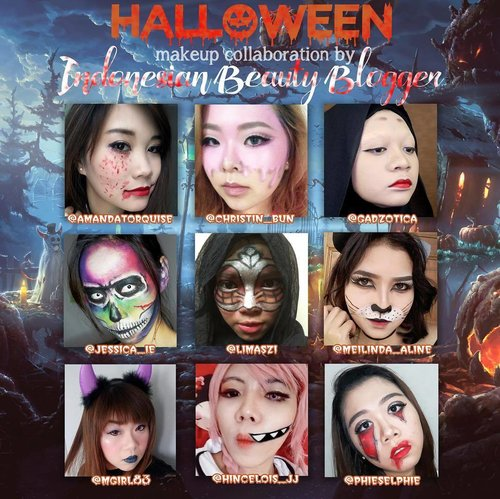 #halloweencollab with my lovely #beautyblogger ladies 🙆🙆🙆. Details will be available on my blog soon!  #blogger #bblogger #bbloggerid #indonesianblogger #indonesianbeautyblogger #surabaya #surabayablogger #surabayabeautyblogger #sbybeautyblogger #halloween #halloweenlooks #halloweenmakeup #halloweenmakeupcollab #makeup #makeupcollaboration #beauty #beautycollaboration #clozettedaily #clozetteid #girls #asian #makeupaddict #makeupjunkie #makeupaddiction #makeupislife
