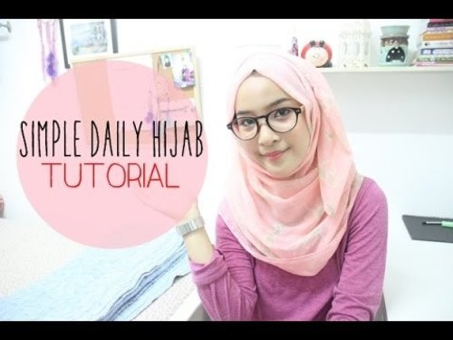 Simple Daily Hijab Tutorial - YouTube