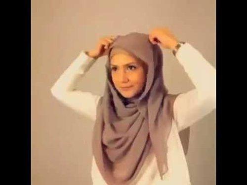 Easy Pashmina Hijab Tutorial 2015 ❤ Trend Hijab 2015 Pashmina ala Indah Nevertari - YouTube