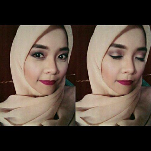 wedding party,  make up full matte lipt. #hijab #weddingparty #makeup #purbasari #matte