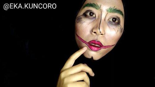 Pertama kali bikin look joker, 😂😂😂😂 Ternyata butuh tingkat kePDan yang tinggi buat upload video ini Semoga terhibur 😊 … … … … #indovidgram #beautygram #videomakeup #videodandan #1minutemakeup #deermakeup #festivemakeup #makeuptutorial #makeupjunkie #ponororogovidgram #makeuptutorial  #indobeautygram #beautybloggerindonesia #beautyblogger #bloggerponorogo  #wakeupformakeup  #naturalmakeup #glammakeup #clozetteid #ivgbeauty #setterspace #makeupforhijab #indomakeup_squad #bunnyneedsmakeup #hijabandmakeup #motd #muaponorogo #Ponorogo #beautylosophy #teambvid @beautiesquad @setterspace @indobeautygram @beautylosophy @bvlogger.id @bloggerceriaid @indobeautysquad @beautybloggerindonesia @indomakeup_squad @bunnyneedsmakeup