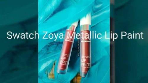 LIP PAINT METALLIC dari @zoyacosmetics  Review?  Up besok yes. . . . 🎵🎵 Agnez Mo - Coke Bottle 🎵🎵 . . #zoyacosmetics #zoyalippaint #zoyametalliclippaint #lippaint #indonesianlipcream #indonesianbeautygram #indonesianbeautyblogger #beautyblogger #beautyenthusiast #makeupporn #beautyreview #makeuplip #clozetteid