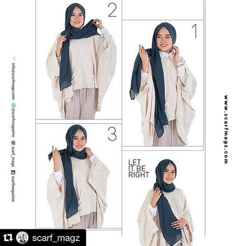 #Repost @scarf_magz with @repostapp.・・・Intip inspirasi hijab tutorial untuk besok beraktivitas.#scarfmagz #fashionmagazine #hijabmagazine #indonesia #clozetteID #hijab #tutorial #tutorialhijab