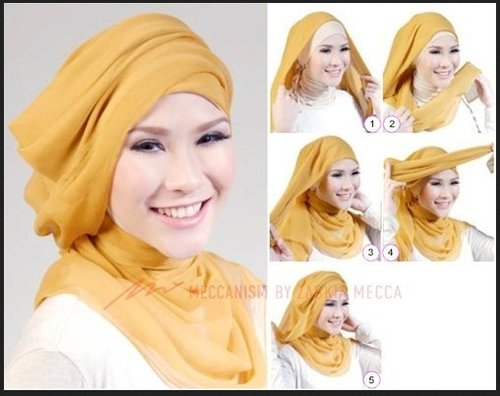 Tutorial hijab turban ala Zaskia Mecca. #HijabTutorialZaskiaAdyaMecca