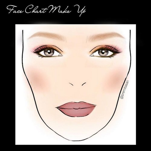 Face Chart Make Up ... Burgundy Nude Look . .  Pict source :instagram .  Application Make Up : modiface+makeup plus .  Face Chart Make Up editing by @premitasari .  #facechart #makeup #wakeupandmakeup #burgundy #burgundynude #makeupnatural #mua  #makeupcharacter #makeupflawless #beauty #clozette #clozetteid