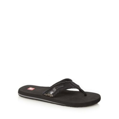 Quiksilver Black raw canvas strap flip flops- at Debenhams.com