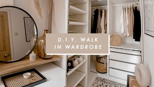 I BUILT A WALK IN WARDROBE | DIY ROOM MAKEOVER | I Covet Thee - YouTube