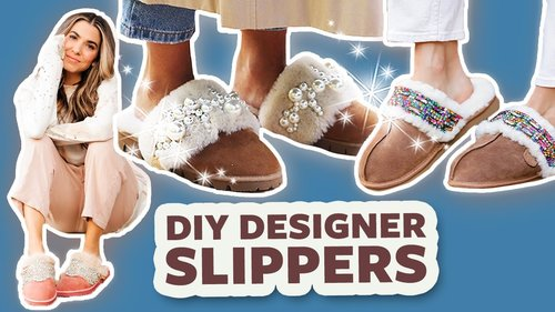 Designer Slippers on a Budget! | DIY with Orly Shani - YouTube