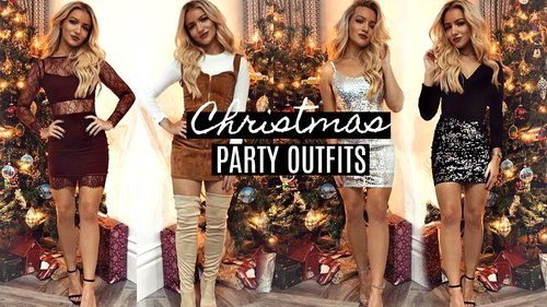CHRISTMAS PARTY OUTFIT IDEAS 2018 / 2019! - YouTube
