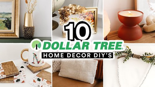 10 DIY DOLLAR TREE HOME DECOR PROJECTS - Affordable + Cute $1 Decor Transformations! - YouTube