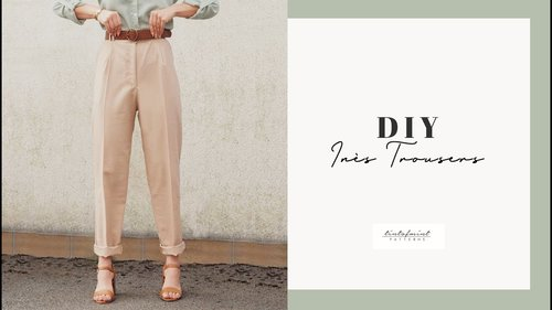 DIY Inès High Waisted Trousers Tutorial - tintofmintPATTERNS - YouTube