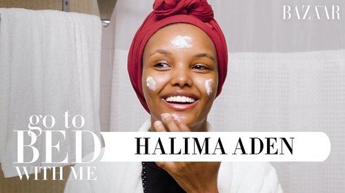 Top Model Halima Aden's Nighttime Skincare Routine | Go To Bed With Me | Harper's BAZAAR - YouTube
