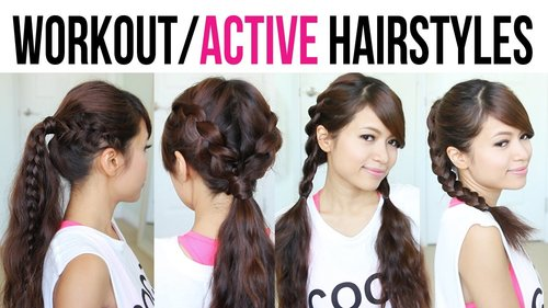 Cute & Easy Back-to-School Gym Hairstyles for Medium to Long Hair - YouTube