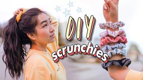 DIY SCRUNCHIES ☁️⭐️ (3 Methods - no sew & sew)| JENerationDIY - YouTube