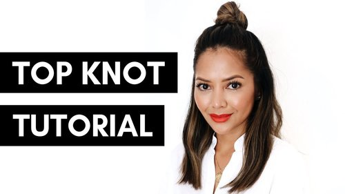 Easy Top Knot Half Bun Tutorial - YouTube