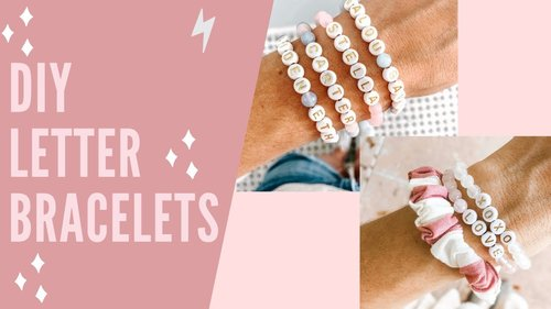 Beaded Letter Bracelet Tutorial with Alexandra Gioia - YouTube
