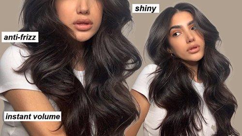 VOLUMINOUS BOUNCY HAIR TUTORIAL - YouTube