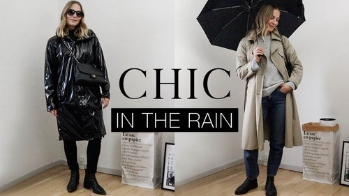How to look CHIC in rainy autumn weather | Effortless style - YouTube