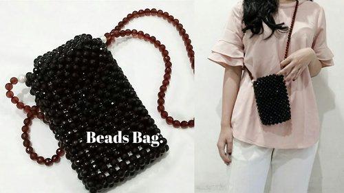 DIY Beads Bag (Smart Phone Bag) | Beaded Bag | Tas Manik-Manik | Tas Mute - YouTube