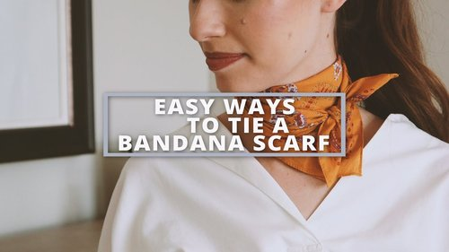 Easy Ways to Tie a Bandana Scarf - YouTube