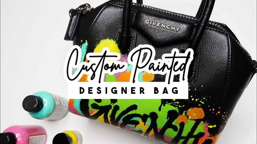 I Painted a Givenchy Purse! | #AnneMade #Custom - YouTube