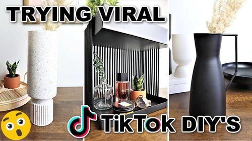 Must Try TikTok DIYs! Trying $1 TikTok DIY Room Decor (Best DIYs of 2021??) - YouTube
