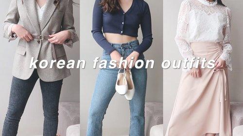 [한글/ENG] korean fashion outfits 🌸 | style lookbook 2021 - YouTube