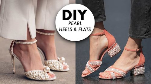 DIY: Pearl Heels & Shoes (DESIGNER HACK!) -By Orly Shani - YouTube