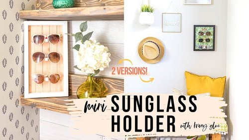 DIY Sunglasses Holder — 2 Versions [No Power Tools!] - YouTube