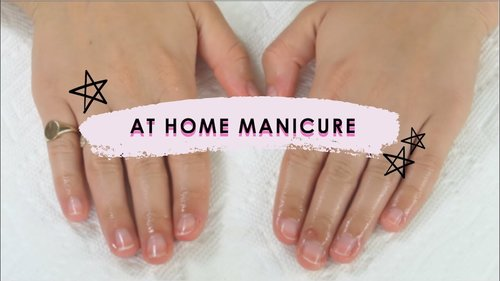 AT HOME MANICURE : for beginners - YouTube